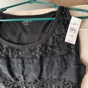 Loft tank top lace blouse